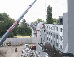 Bau Dachgärten Moxy Düsseldorf
